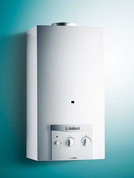 Plinski protočni grijač vode s priključkom na dimnjak